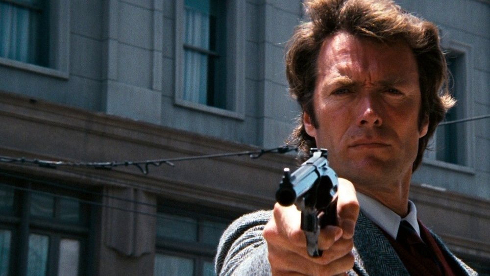 Harry Callahan (Clint Eastwood) in  Dirty Harry  (1971).