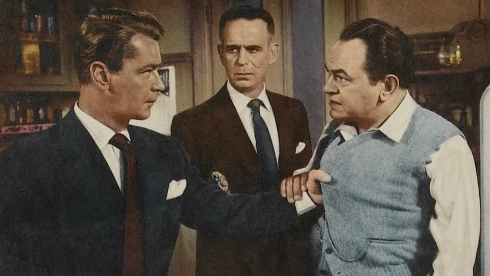 Framed cop Steve Rollins (Alan Ladd) takes revenge on racketeer Vic Amato (Edward G. Robinson), with enforcer Joe Lye (Paul Stewart) stuck in the middle.