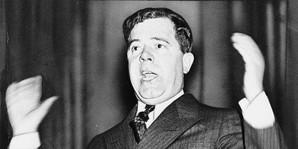 Huey Long (1893  –1935), speaking as a U.S. Senator.