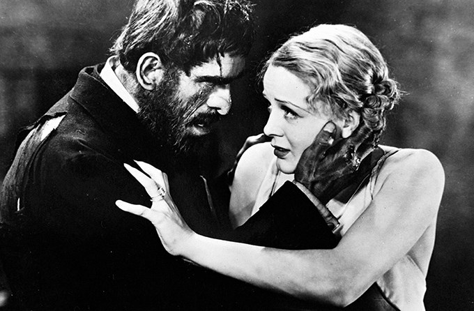 Morgan (Boris Karloff) has Margaret (Gloria Stuart) in his clutches.