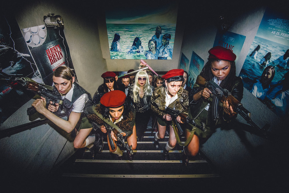 The Female Liberation Army prepares for battle in  The Misandrists.