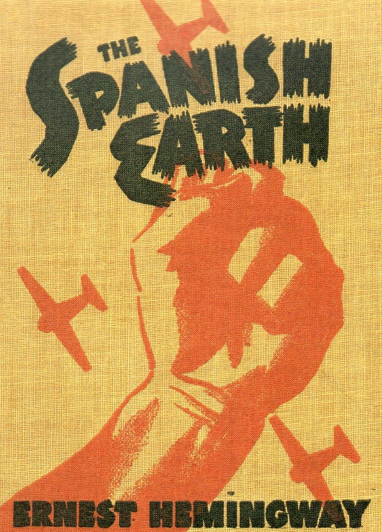 Original book cover of Ernest Hemingway's  The Spanish Earth.
