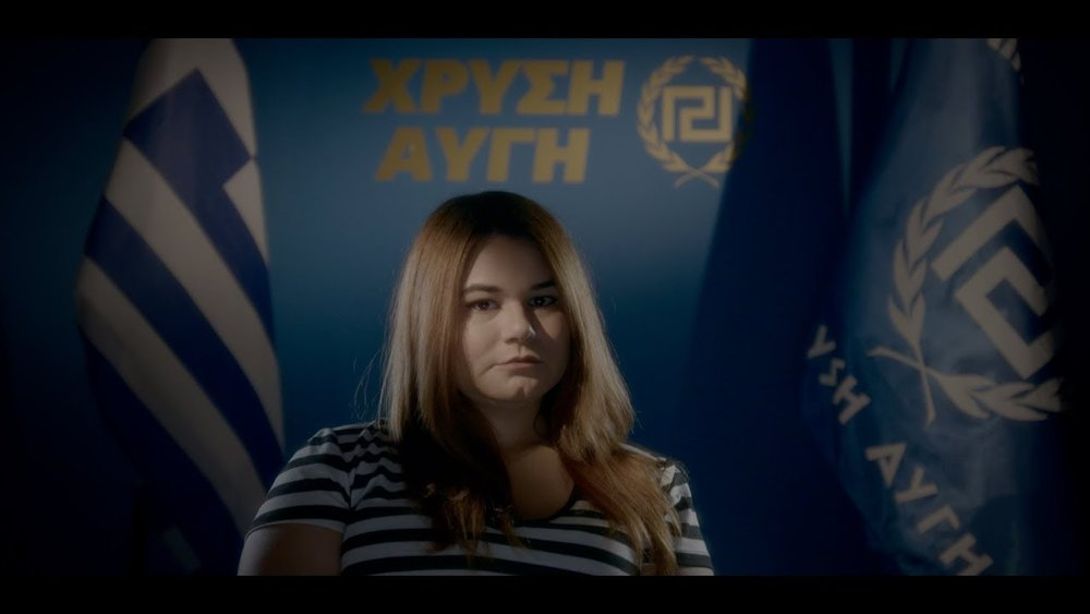 The female face of contemporary Greek fascism looms large in Håvard Bustnes'  Golden Dawn Girls.
