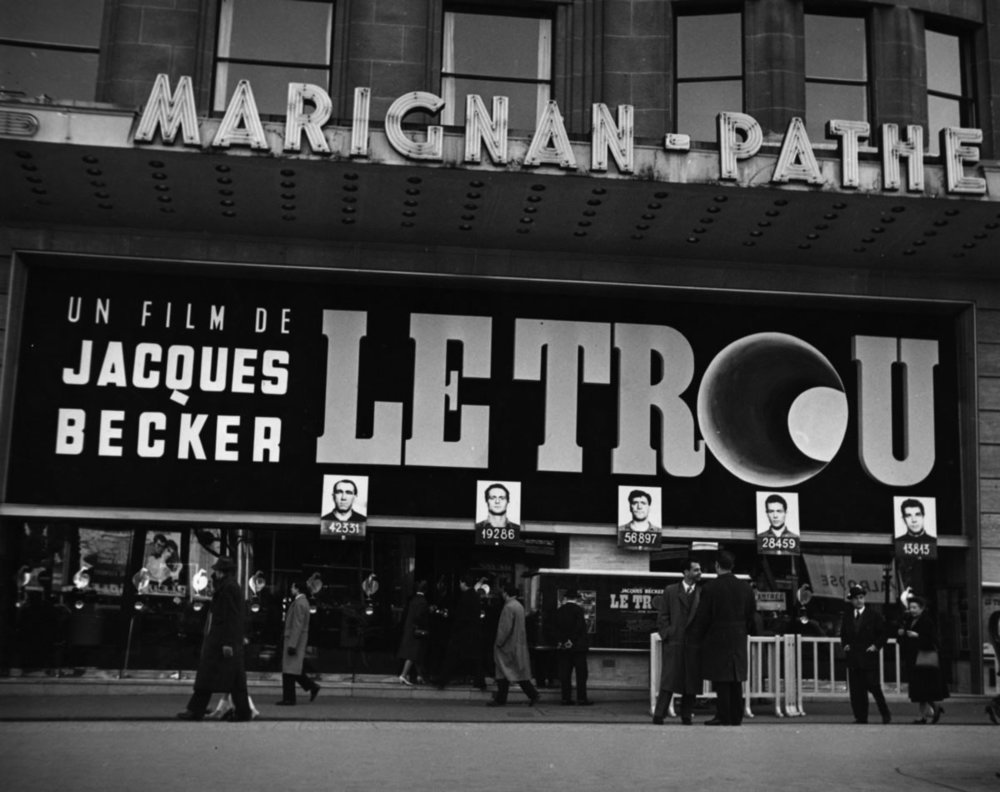 Marquee of  Le Trou  (1960).
