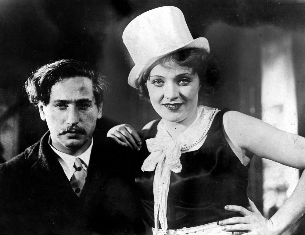 Josef von Sternberg and Marlene Dietrich during shooting of  The Blue Angel.  Courtesy of Photofest.