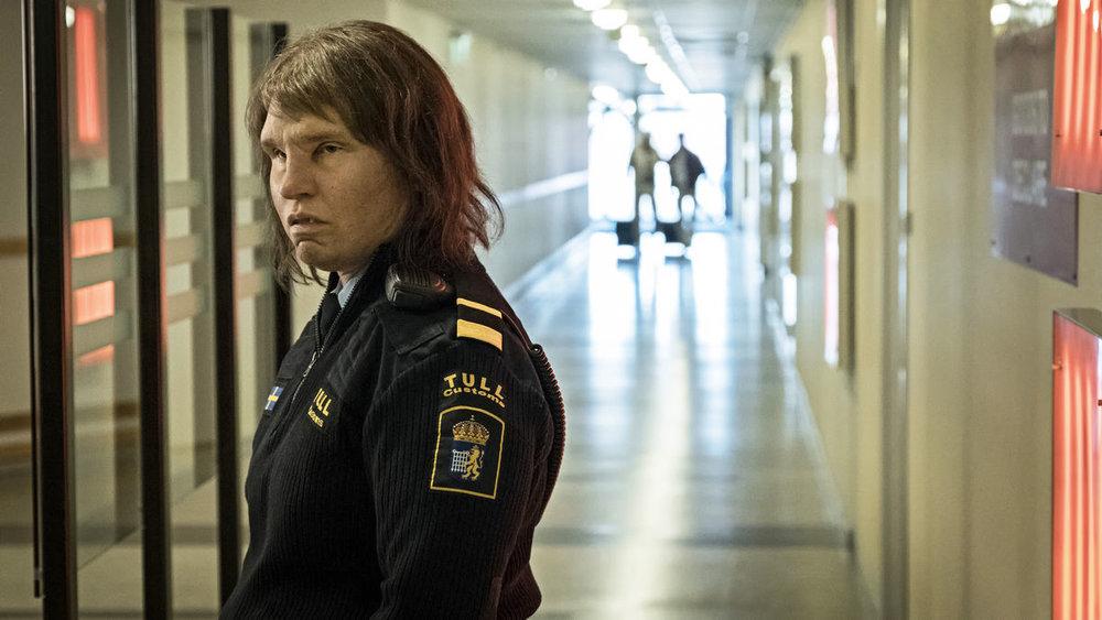 Customs officer Tina (Eva Melander) sniffs out threats to the Swedish border.