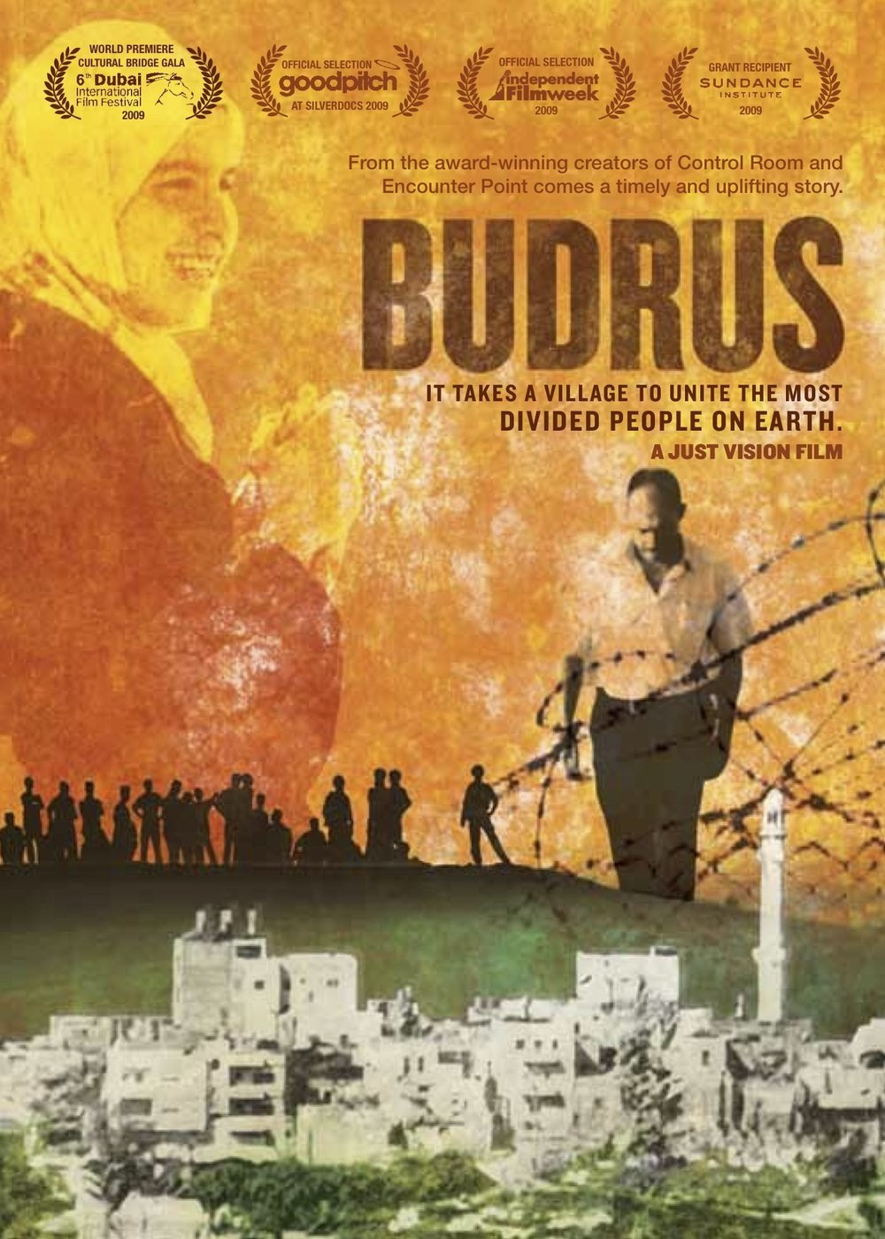 Bacha's acclaimed  Budrus  explores the role of Palestinian community organizers using nonviolent tactics.