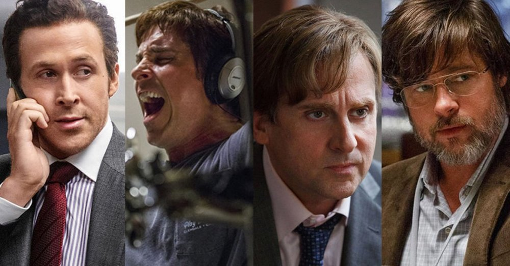 """The performances in  The Big Short  are carried by wigs, makeup, and bad suits, like in a silent comedy."""