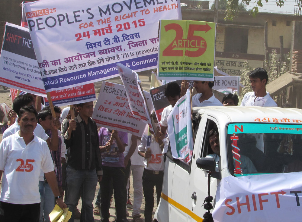 Protest to end deaths from tuberculosis in India