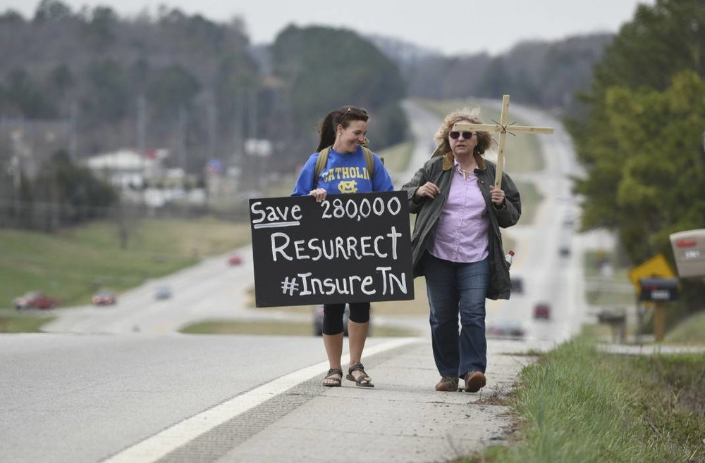Woman walks 70 miles across East Tennessee
