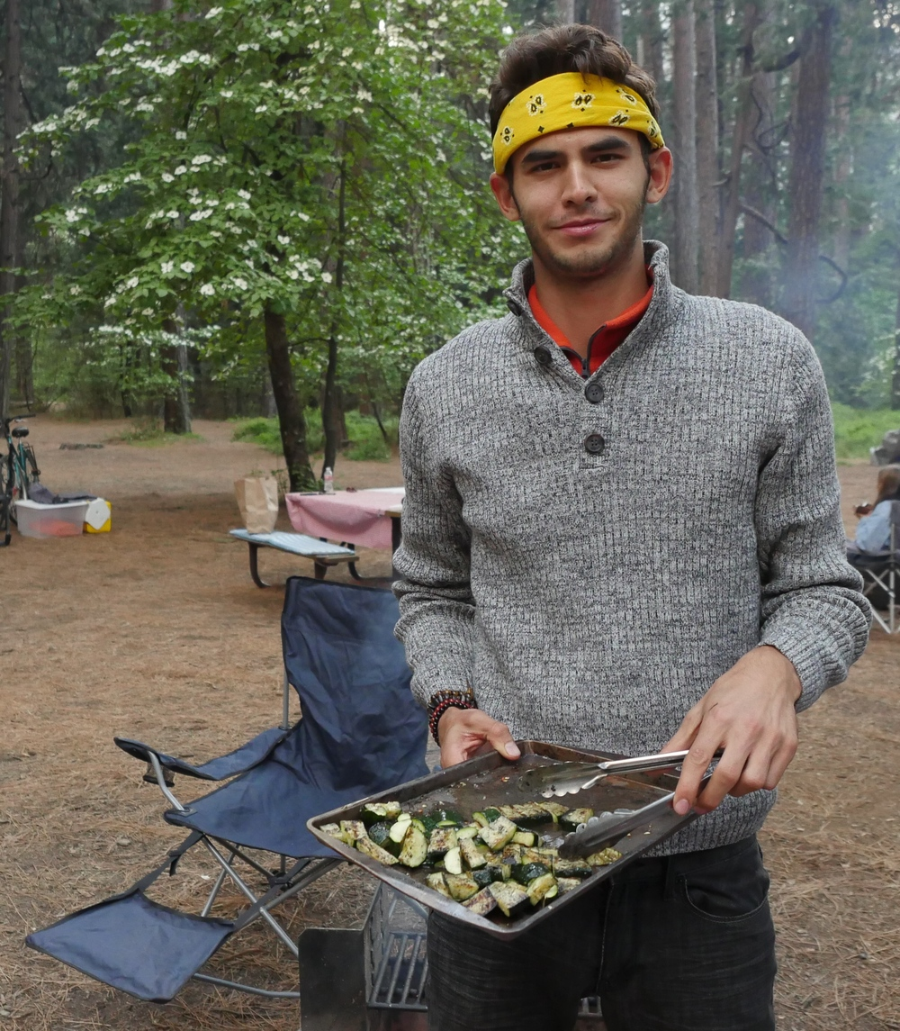 Off the grid cooking in Yosemite!