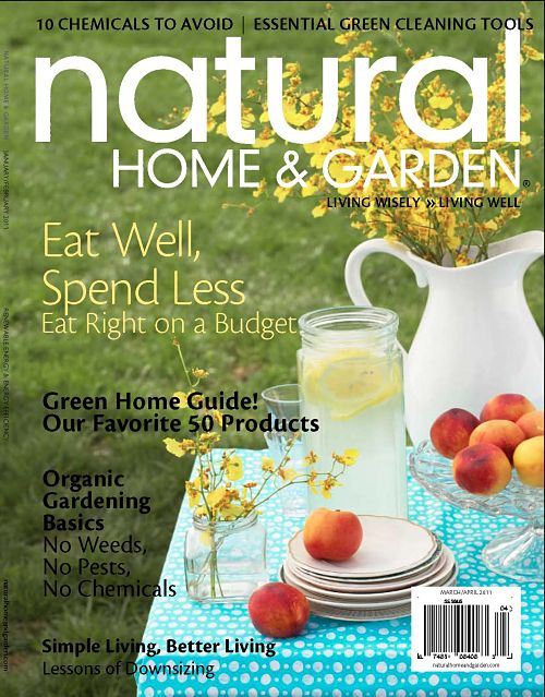 natural home and garden magazine cover mock up