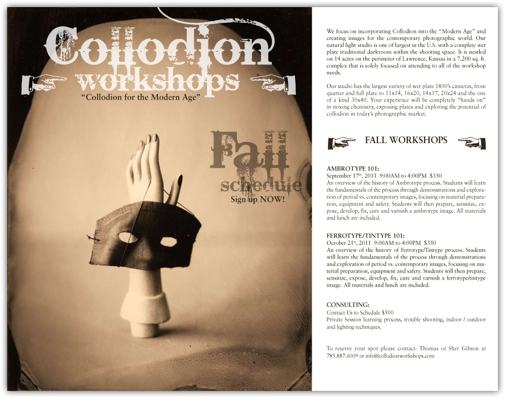 thomas gibson studio collodion wet plate fall workshops
