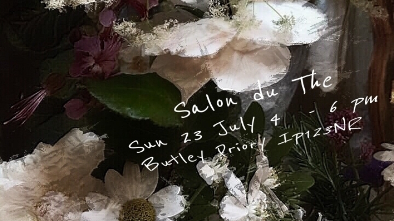 Salon Du The - Sunday 23rd July @ButleyPrioryTogether with the Aldeburgh Beach Arts Club, artist Caroline Reekie and I had an informal Salon du TheCaroline showed some of her new work, best selling author Meg Rosoff gave a reading and there was piano music by myself and by Lewis Barham.