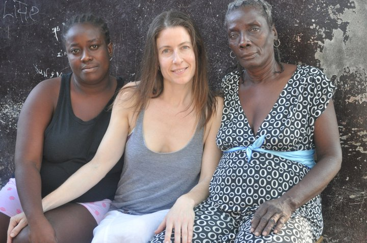 In downtown Port-au-Prince with my friend Yatande's mother and sister (photo by Neg Mawon).