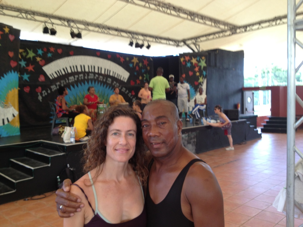 With Figueroa of Afro-Cuba de Matanzas in Vadadero (2013)