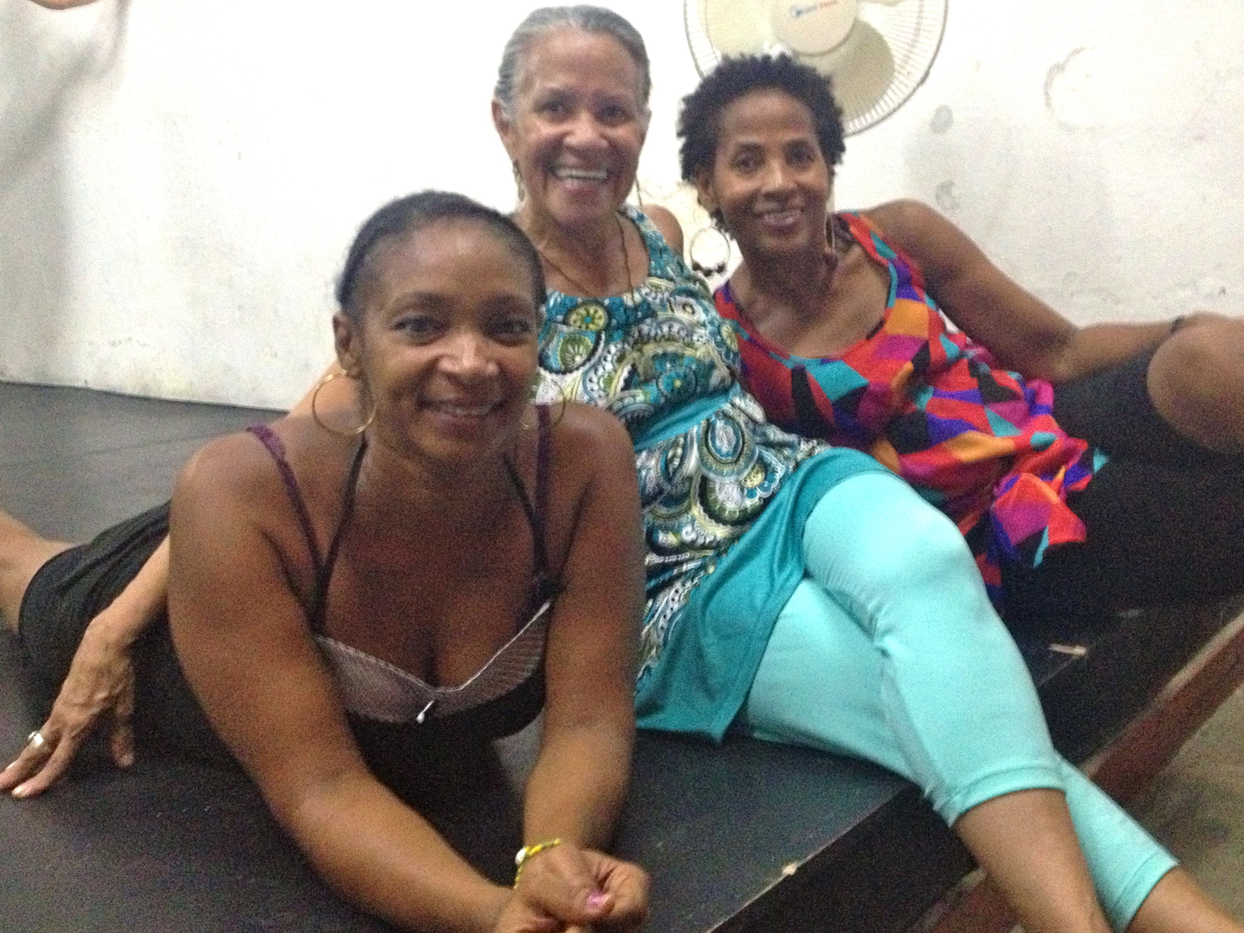 Ildolivia with Josephine and Mirtha in our studio in Vedado.