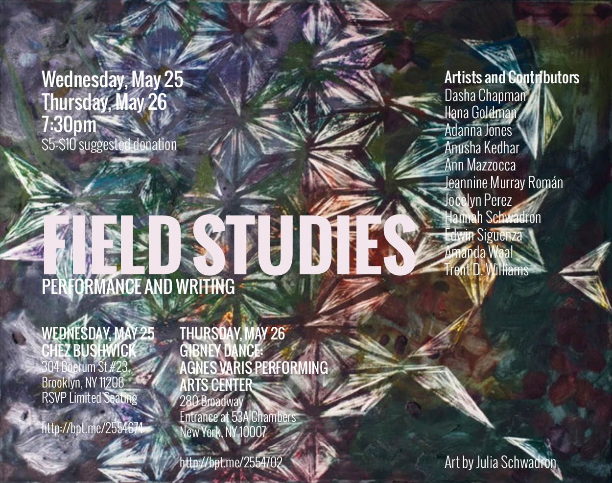 Field Studies, 3rd edition, Chez Bushwick and Gibney Dance
