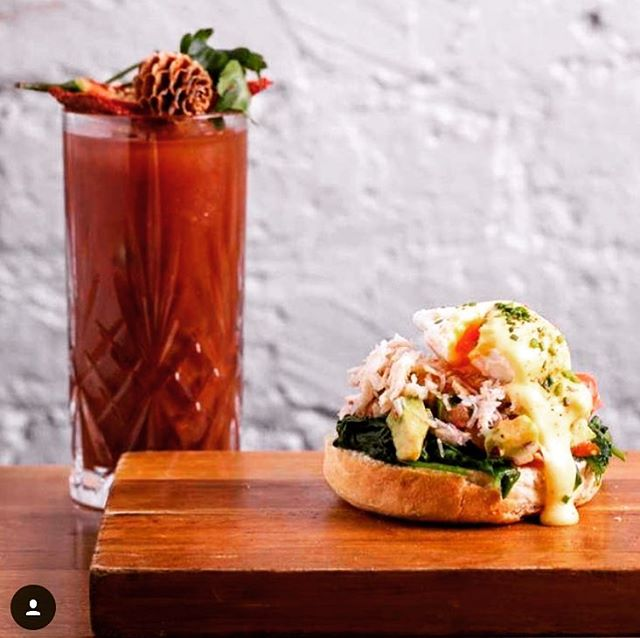 We are serving #brunch @fishmarketns in Liverpool Street EVERY SATURDAY until Xmas!! Come and cure those hangovers with our #crabbenidict and a #bloodymary ⚡️⚡️⚡️⚡️