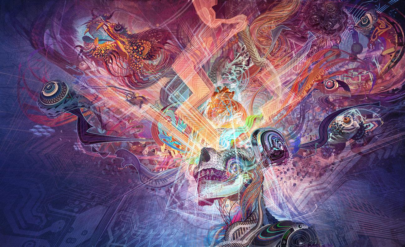 "Tipper ""Forward Escape"" album art by Android Jones."