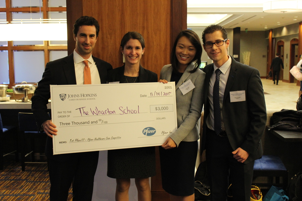 Congratulations to the Wharton School for winning the 2015 Pfizer Case Competition at Johns Hopkins!