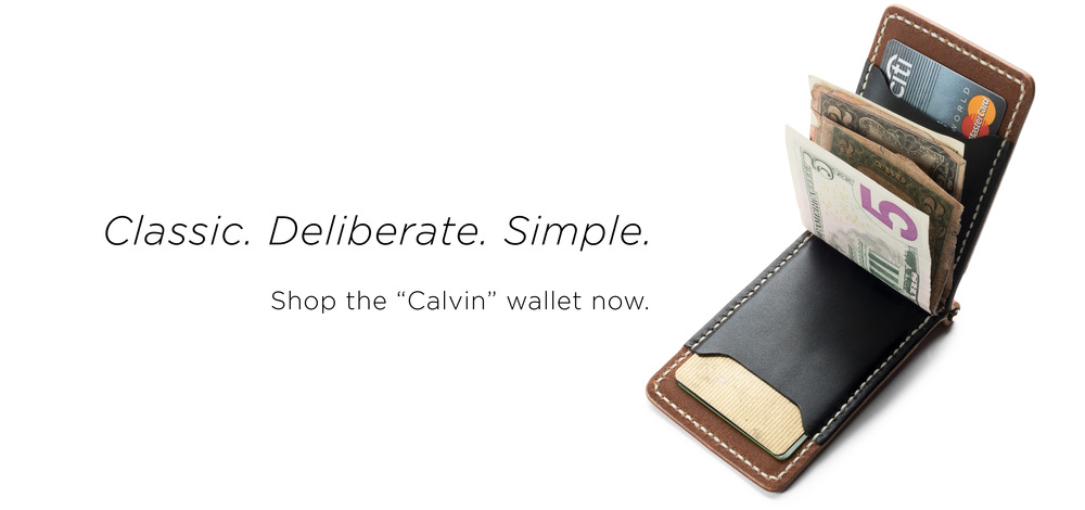 "the ""Calvin"" wallet Slider"