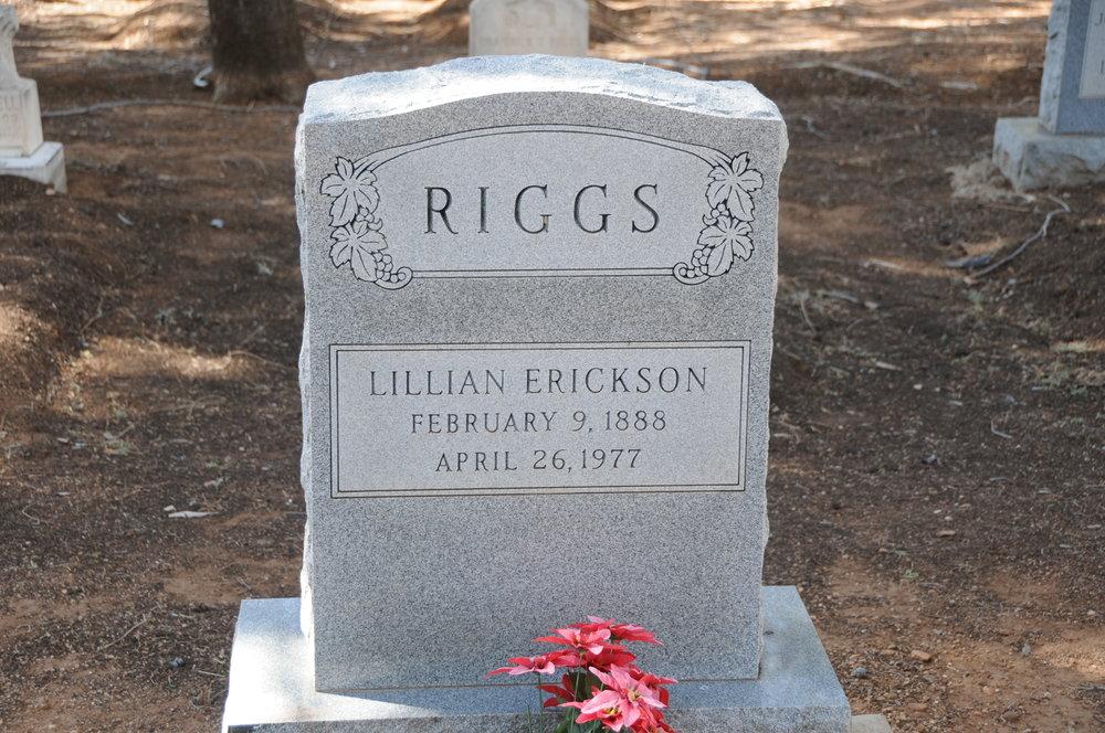 2c LILLIAN (ERICKSON) RIGGS