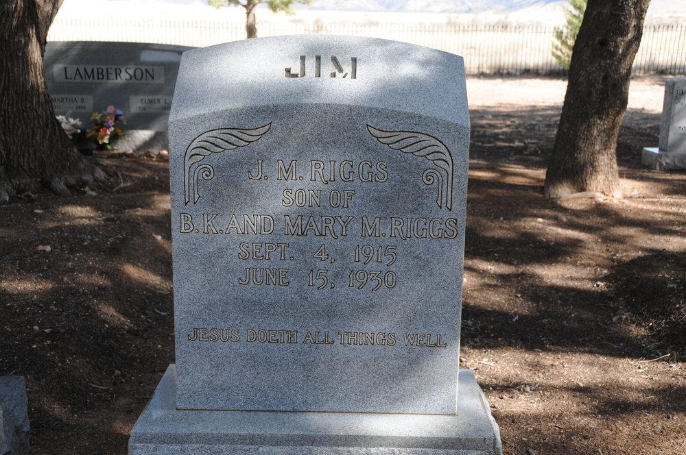 """3e JAMES """"JIM"""" M. RIGGS"""