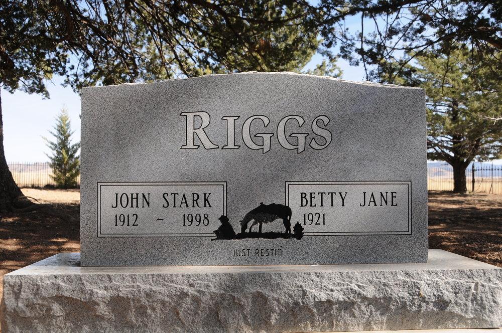 3j JOHN STARK & BETTY JANE (GREY) RIGGS