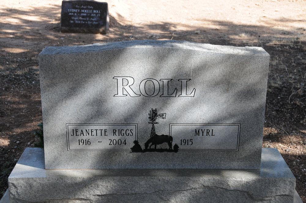 5d JEANETTE (RIGGS) & MYRL ROLL