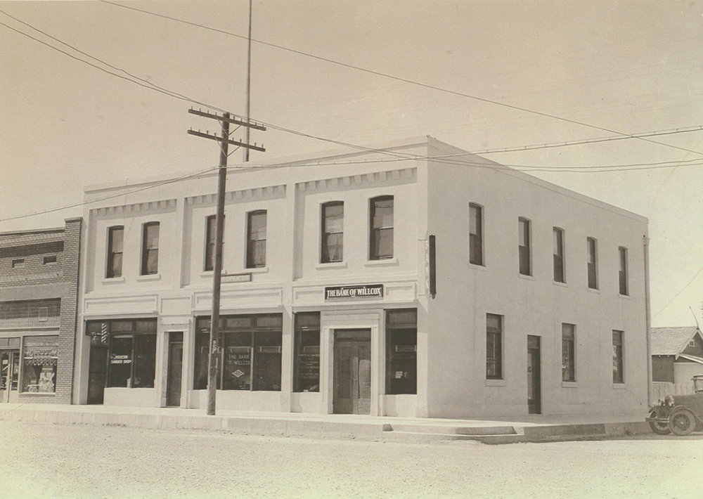 RIGGS BANK BUILDING PRIOR TO ITS PURCHASE BY THE RIGGS FAMILY IN 1920.   PHOTOGRAPH TAKEN APPROXIMATELY 1915 / OWNER WAS BANK OF WILLCOX