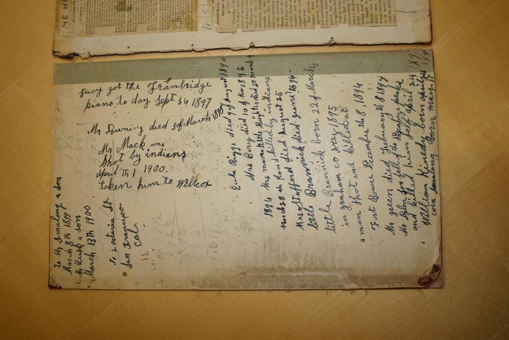 MARY ELIZABETH (ROBBINS) RIGGS DIARY, VOLUME I