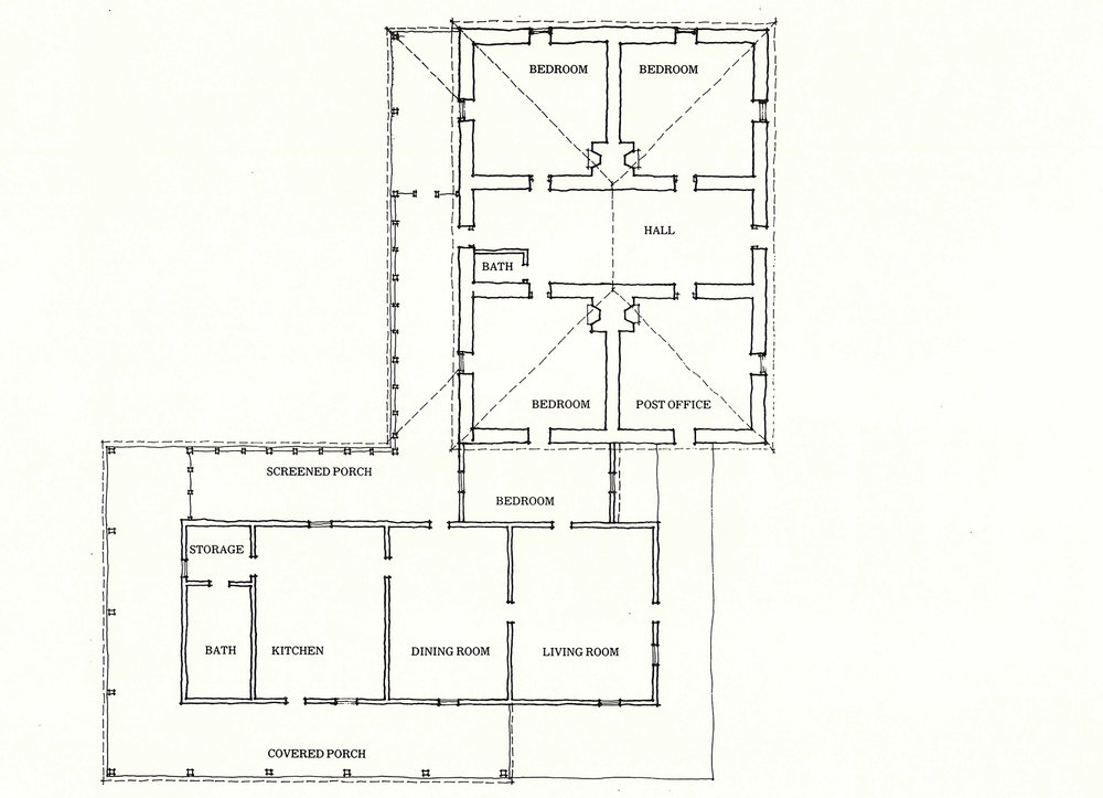 FLOOR PLAN OF THE RIGGS HOME RANCH