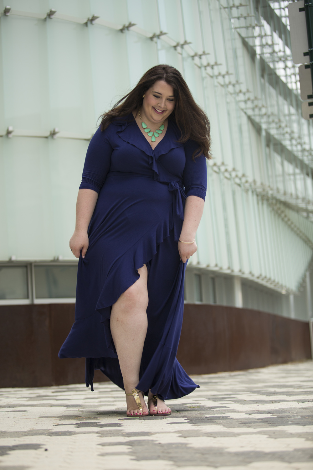 Shoes for navy maxi dress