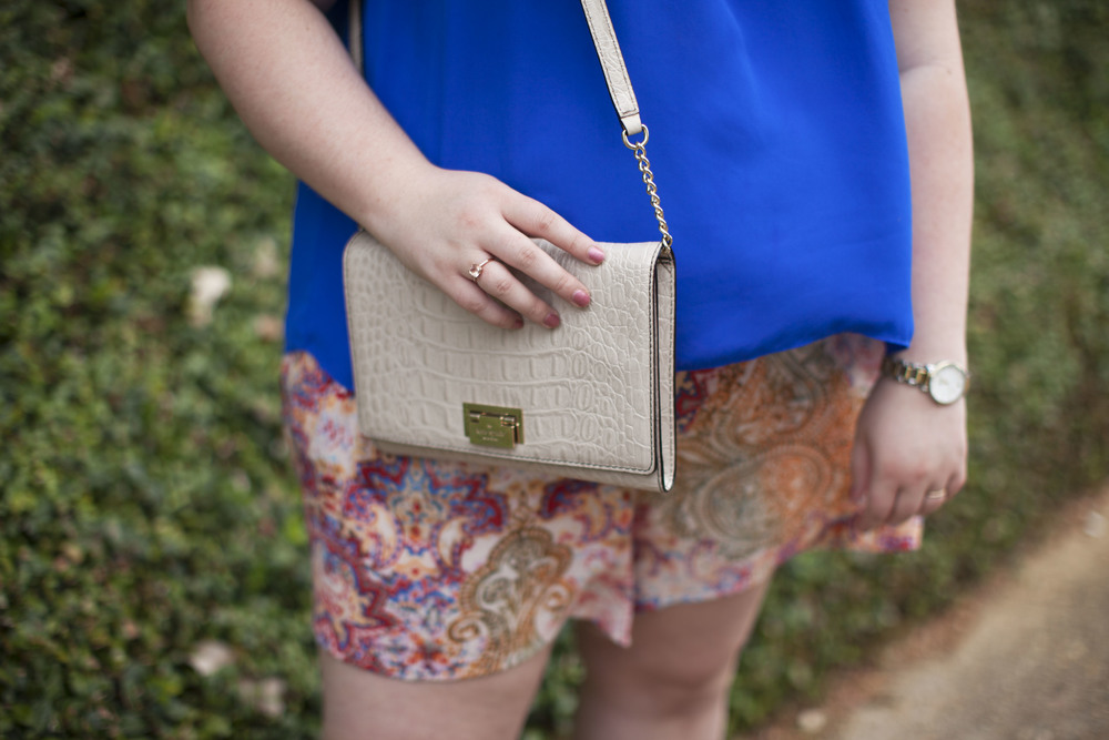 plus size street style royal blue top plus size linen shorts 001.jpg