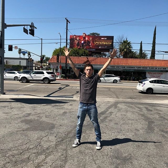 regram @tomholland2013 I had to pull over. I can remember so vividly going to see avengers assemble with @tomhutton101 years ago and I can't believe I am now part of this incredible universe. Go see @avengers infinity war to join the team and become part of the family. April 27th is gonna be littttt! #proudavenger