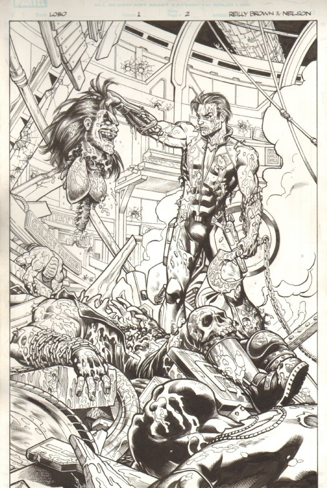 A whole bunch of new Lobo art for sale on my page at Anthony Snider's Comic Art!  Check it out.