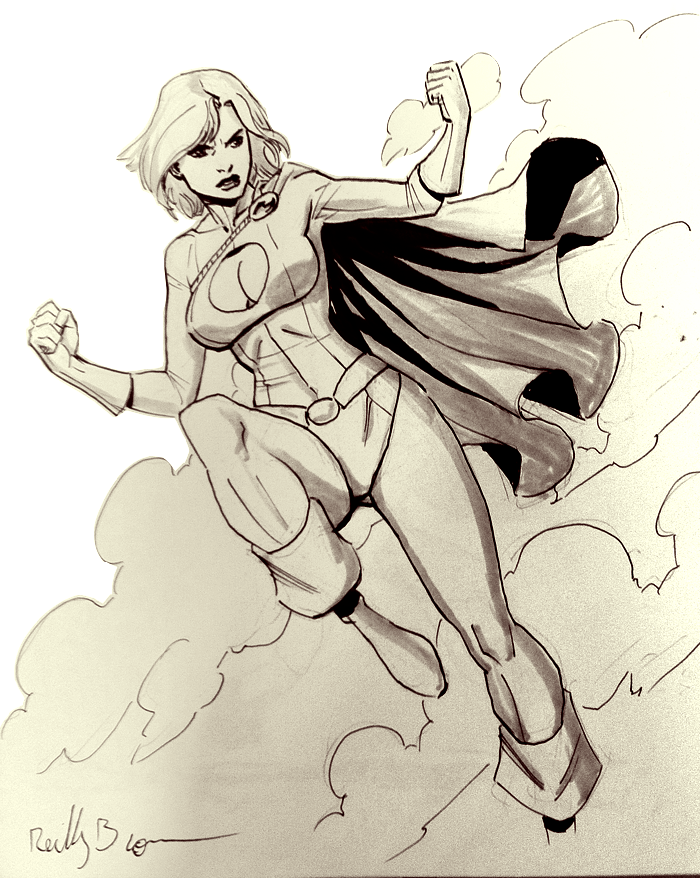 Power Girl commission! If you're at C2E2, hit me up in artist's alley.  I'll be at table N10.  See you there!