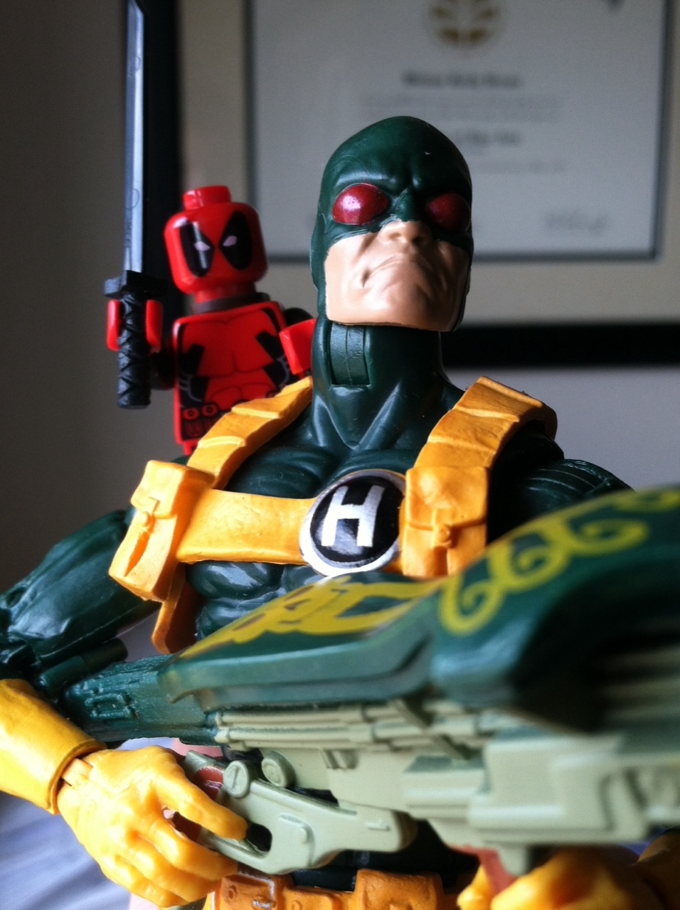 Bob and Deadpool reliving their first meeting.