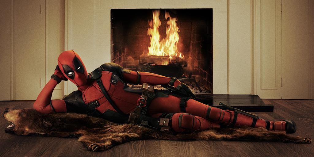This is the right way to make a Deadpool movie. Official costume from Ryan Reynold's twitter. This is gonna be awesome.