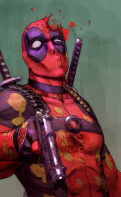 timetravelandrocketpoweredapes :     Deadpool   // By:  Reilly Brown