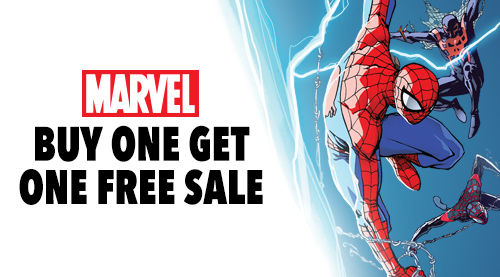 comixology :    Buy One Get One Free on anything from Marvel now through 2/23. Use the code MARVEL on your cart before checkout!         Awesome deal! Good chance to take the opportunity to read  Deadpool: Dracula's Gauntlet  in it's original digital form if you haven't yet. Or Get caught up on the issues of  Cable & Deadpool  I did with Fabian back in the day.   Or, hell, just check my  Comixology profile page  and have at it!