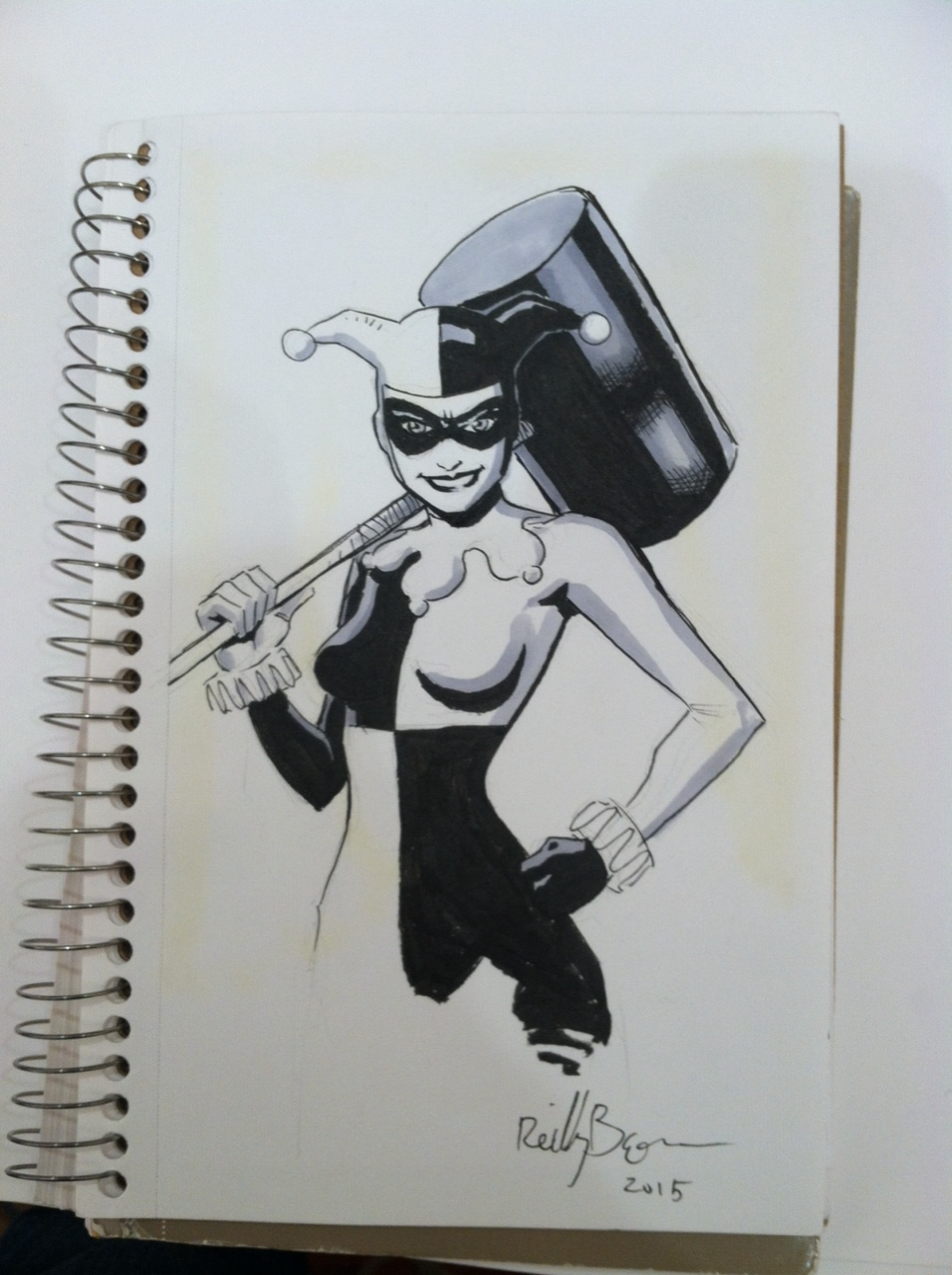 Here's a Harley Quinn commission I did. Original costume ftw!