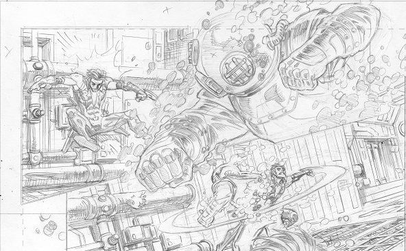Fight scene from Lobo #3.  Lobo vs Double Zero.