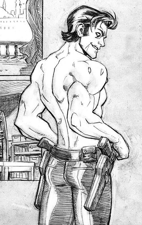 I was reading something about there not being enough sexy dudes in comics, so here's a little something for the ladies from tomorrow's Lobo #1 ;)