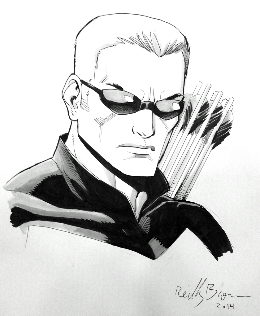 Hawkeye! Another commission from Baltimore Comic Con.
