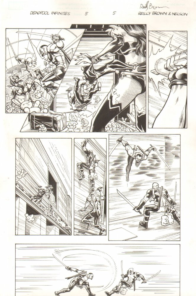 I'm selling original art! Deadpool, Hawkeye, Hulk vs Hercules, all at Anthony's Comic Book Art.