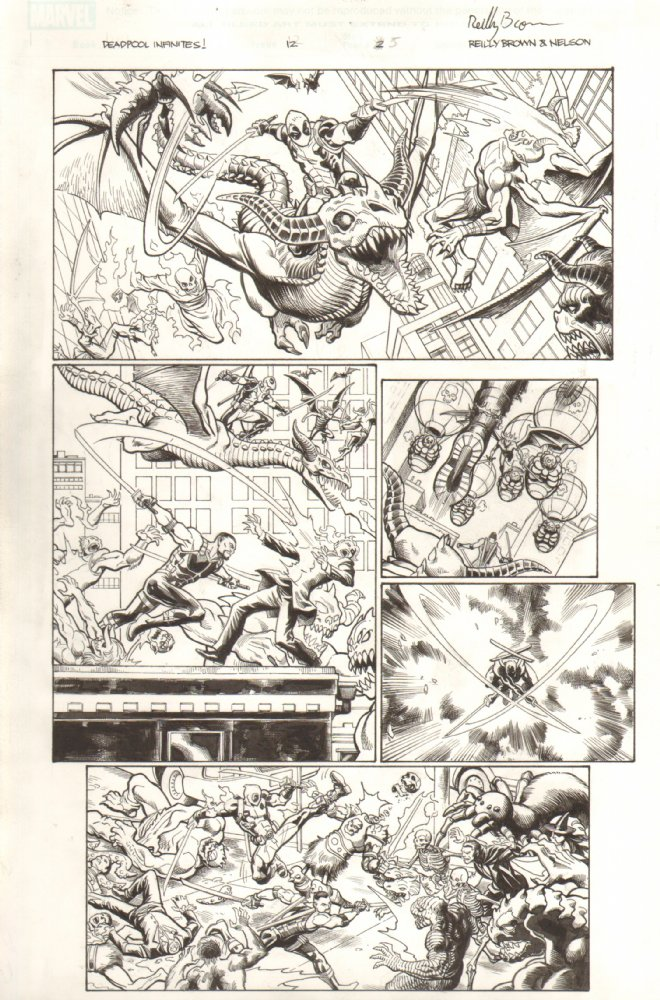 Original art from Deadpool: Dracula's Gauntlet.  Look for more at Anthony's Comic Art.