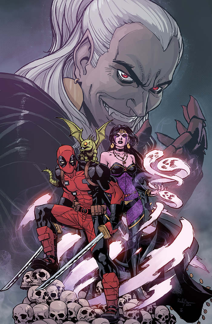 Here's a peek at the cover to the final issue of Deadpool: Dracula's Gauntlet, on sale next week!