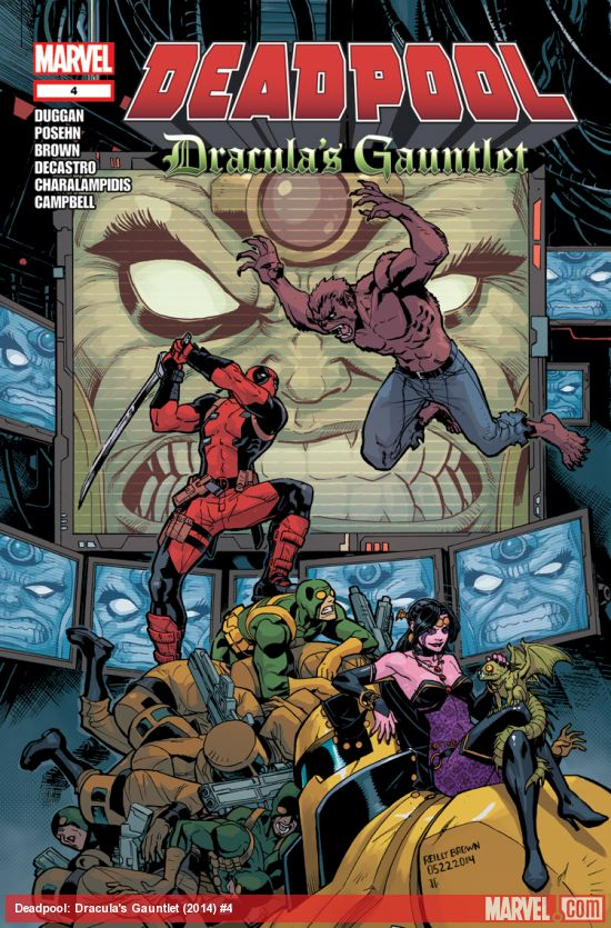 Deadpool: Dracula's Gauntlet #4 is on sale tomorrow!  Keep your eyes peeled for it!    When Dracula hires Deadpool to transport a highly-valuable delivery for him, he has no idea what kind of trouble he's in for. Guest-starring Blade, M.O.D.O.K., Hydra Bob, Werewolf by Night, and more—hop on with Deadpool for a crazy journey across the world…and into the heart of the Merc with the Mouth!